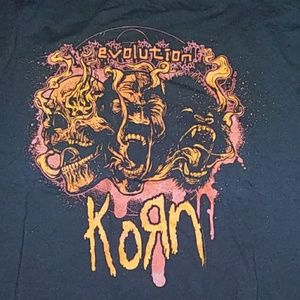 Large Korn 2007 Evolution Tour t-shirt
